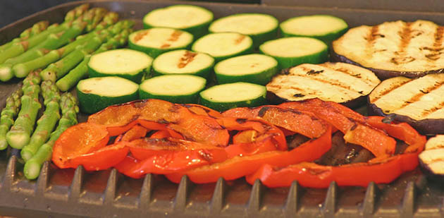 George Foreman Grill vegetables