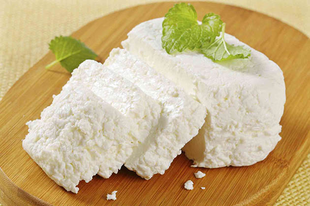 substitute for goat cheese - sliced ricotta cheese