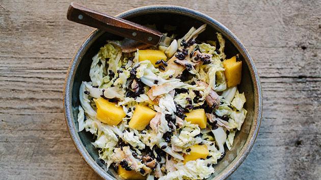Chicken, mango and black rice salad