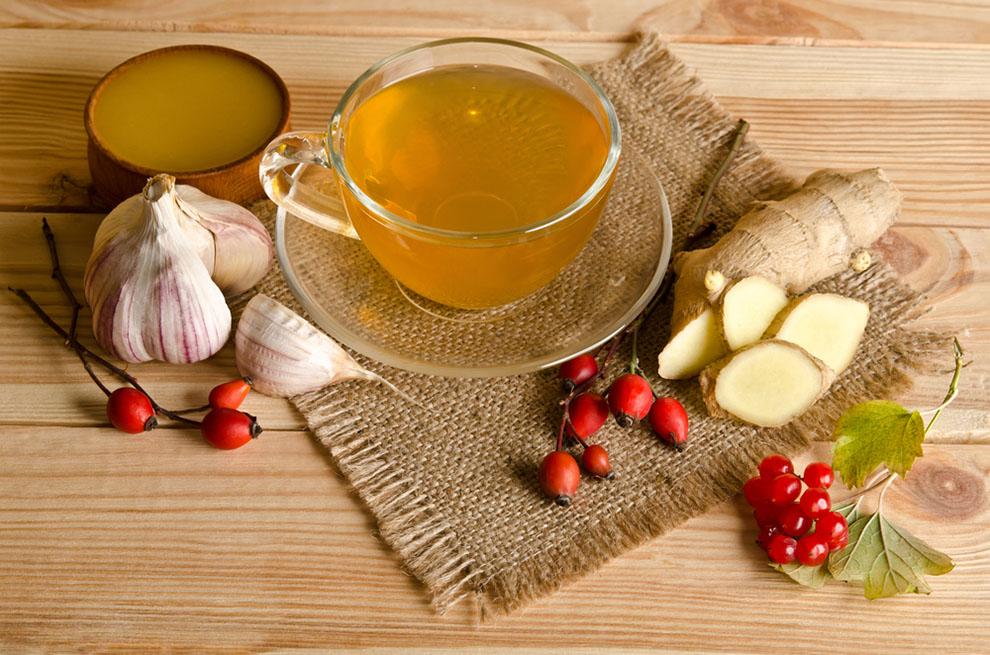 Lemon-Honey and Garlic tea