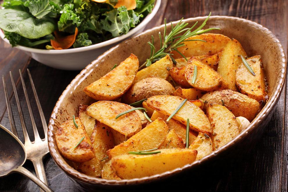 Roasted Potato and Garlic Salad