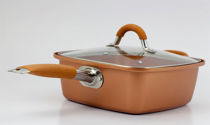 what are copper chef pans